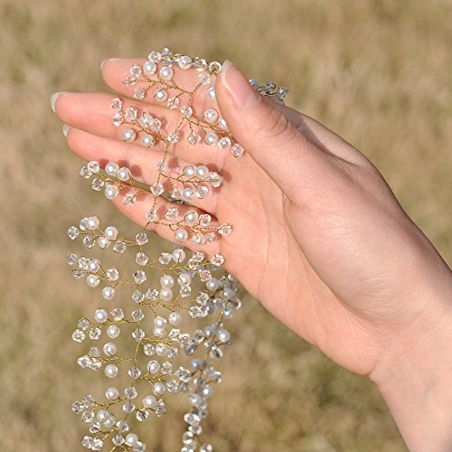 Fusciacca Sh55 Bianco Abito Sposa Cintura Cristalli g Perle Da Ghigliottina Ulapan Cinghia Sposa Da Diamanti zxT7wSpq