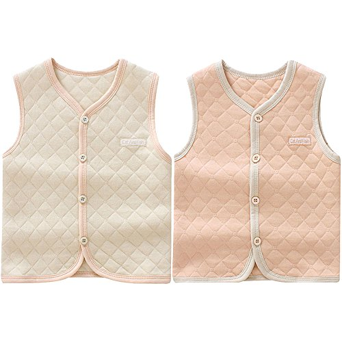 Unisex Vest (ThreeH Baby Kid Boys Girls Autumn Vest Warm Waistcoat Jacket BR0602,Rhombus(Pack of 2))