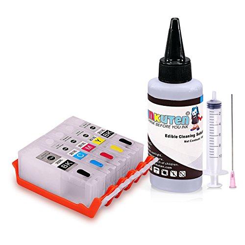 INKUTEN - Edible Cleaning kit for PGI-250/CLI-251 With 100ml Edible Cleaning Solution Compatible with Pixma MG6620 MG6420 MX922 MX722 MG5622 MG5620 IP7220 IX6820 MG5420 MG5422 MG5520 MG5522 Printers -