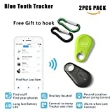Electronics : Smart Finder Bluetooth Locator Key Pet Tracker Car Finder Child Locator Device Wireless Seeker Smart Anti Lost Alarm Sensor For Wallet Car Kids Dog Cat Bag Phone Located Selfie Shutter pack of 2