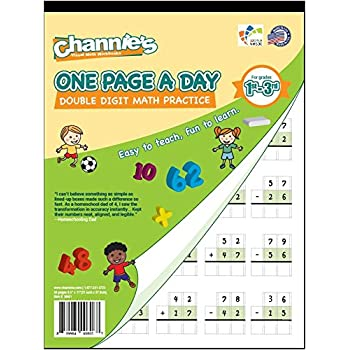 Counting Number worksheets maths worksheets for grade 4 : Amazon.com : Channie's One Page A Day Triple Digit Math Workbook ...