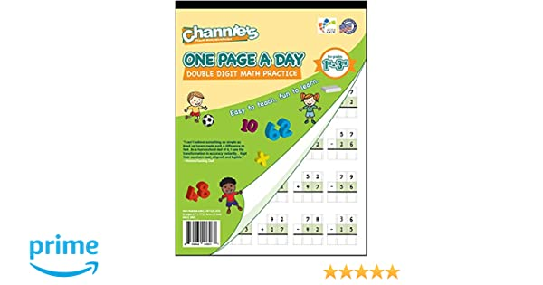 Amazon.com : Channie's One Page A Day Double Digit Math Problem ...