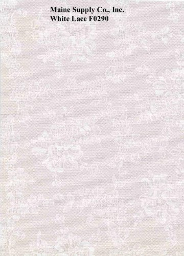 White Lace Series F0290 Vinyl Tablecloth 54