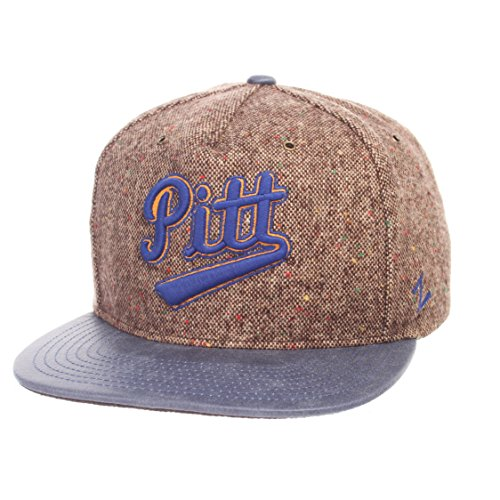 Zephyr NCAA Pittsburgh Panthers Men's Legend Heritage Collection Hat, Adjustable, Tweed (Leather Pittsburgh Panthers)