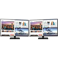 LG 43UD79-B 43 4K Ultra HD IPS LED Dual Monitor Bundle