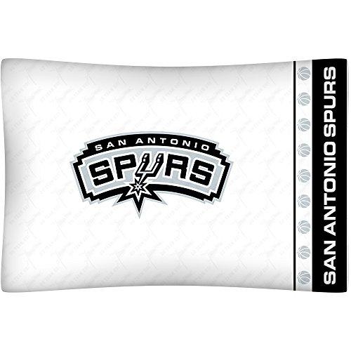 NBA San Antonio Spurs Micro Fiber Pillow Cases, Standard, White