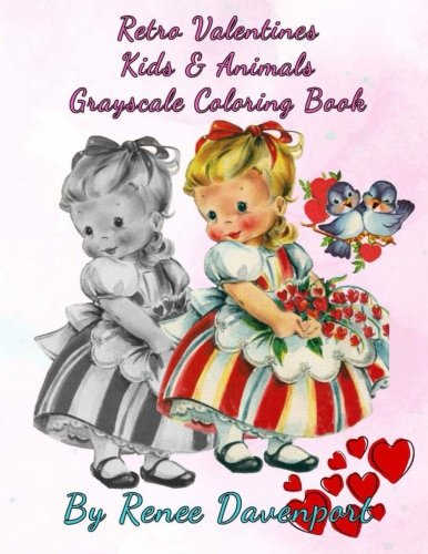 Retro Valentines Coloring Book