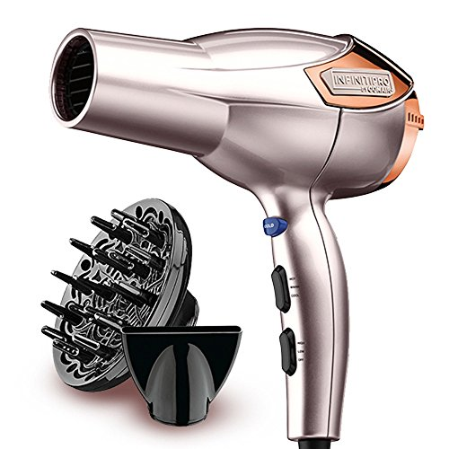 INFINITIPRO BY CONAIR 1875 Watt Lightweight AC Motor Styling Tool/Hair Dryer, Rose Gold by Conair