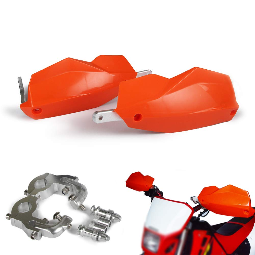 Universal 7/8'' 28mm 22mm Motorcycle Handlebar Hand Guards Protector For KTM EXC XC SX SXF XCW XCF EXCF XCR SMR DUKE (Orange)