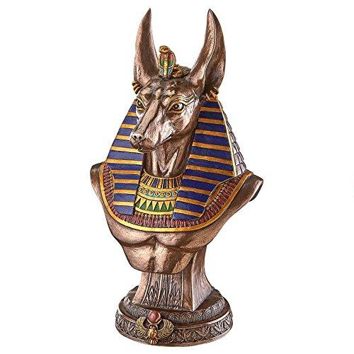 Design Toscano WU76649 Anubis God of Ancient Egypt Sculptural Bust