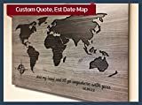 Est Date, Wedding Guestbook, Quote Sign, Family Name Sign, Wood World Map, Wood Wall Art, Family Room Decor, Anniversary Gift, Wedding