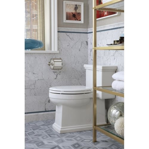 KOHLER K-3981-96 Tresham Comfort Height Skirted One-Piece Compact Elongated Toilet with Aquapiston Flush Technology and Left-Hand Trip Lever, Biscuit by Kohler (Image #3)
