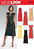 New Look Sewing Pattern 6348 Misses Dresses, Size A (6-8-10-12-14-16)
