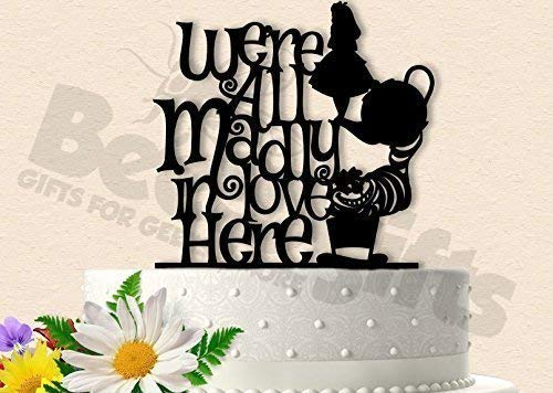 Amazon Madly In Love Alice Wonderland Wedding Cake Topper Handmade