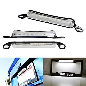 iJDMTOY Universal 15-SMD Two-Way License Frame Mount LED License Plate Light Plus LED Backup Reverse Light For Car Truck SUV Van RV, Xenon White