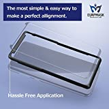 """EURPMASK 1 Case Friendly Tempered Glass Hassle Free Application Samsung Galaxy S8+/S8 Plus (6.2"""") Screen Protector, Easy to Install, Bubble Free, Anti-Scratch with A Free Back Cover - Black"""
