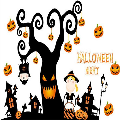 Happy Halloween Diy Wall Decal Wall Stickers Bedroom Home Window Sticker Mural Decorations For Baby Kids Room Nursery Halloween Party By Raleighsee
