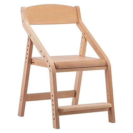 Sillas Silla de estudio para niños Taburete de madera para ...