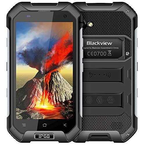 Rugged Cell Phones Unlocked,Blackview BV6000S Unlocked Smartphones IP68 Waterproof,Android 7.0 4G Dual SIM,4.7 Inch Quad Core 2GB+16GB,4500mAh Battery,[MIL-STD 810G],NFC,for - Mobile Phone Rugged