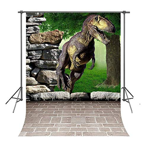 Customized Cardboard Cutouts (FUERMOR Customized Photo Background 5X7FT Dinosaur Photography Backdrops Props Photo Studio)