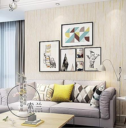 Volumen Blanco Color Beige Claro 3D Color Liso Papel Tapiz Dormitorio Sala De Estar Restaurante Del Hotel Tienda De Ropa Azul Simple Papel Tapiz Autoadhesivo 9M 0.53M