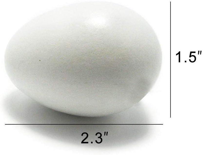 AmaMary Huevos de Madera para Pintar 6 Piezas de Madera Huevos de Pascua Blanco 6 Piezas