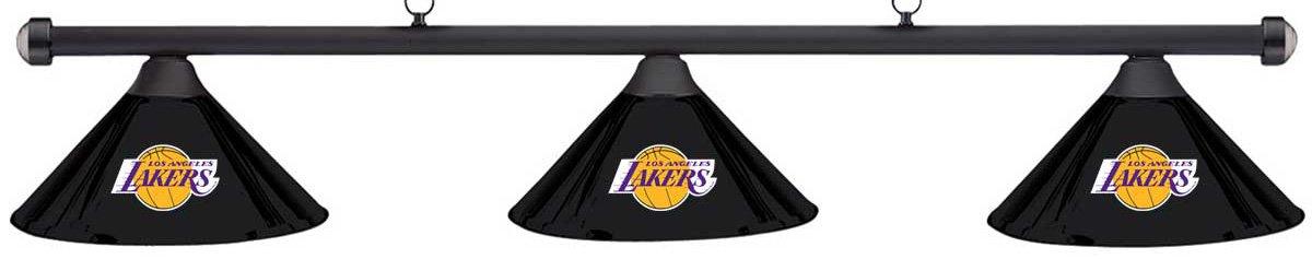 Imperial NBA LA Los Angeles Lakers ブラックメタルシェード/ブラックバー ビリヤードプールテーブルライト B01M0AH4F6