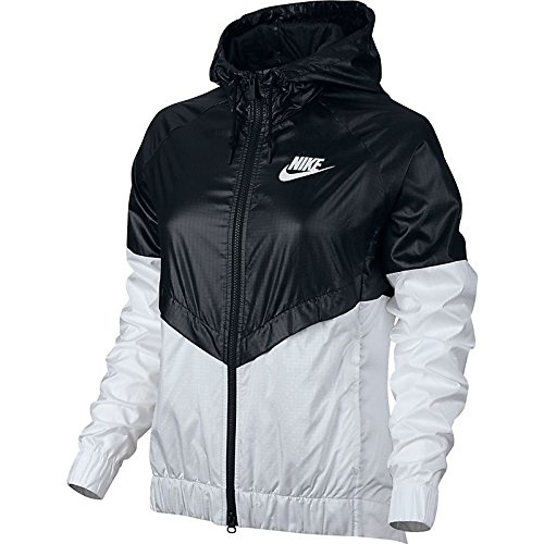 Nike NSW Windrunner Women's Outdoor Jacket Black/White 804947-010 (Size XL)