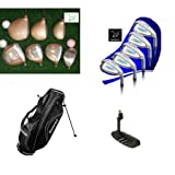 """Ladies 15 Piece Custom """"Select Edition"""" Complete Golf Club Set w/Stand Bag Graphite Shaft Woods, Hybrid Iron+Putter & HCs; All Sizes; Made in the USA; Fast Shipping"""