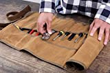 Wrench And Tool Roll Bag, Durable Waxed Canvas