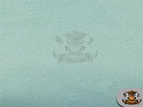 Velvet Suede Cotton Backing Drape Upholstery BELLA Fabric AQUA / 58