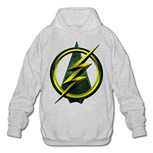 [MARC Men's Green Arrow Sweater Ash Size L] (Green Arrow Hoodie Costume)