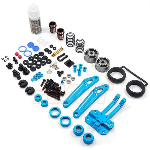 Bar Damper (Yeah Racing Aluminum Shock Absorb Wheelie Bar w/ DSG Shock Gear Damper Set For Tamiya WR02 WR02G GF01 #TAWR-007BU)