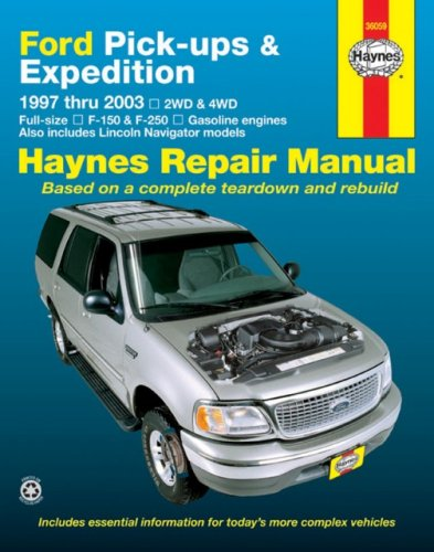 Ford Pick Ups   Expedition 1997 Thru 2003  Haynes Repair Manuals