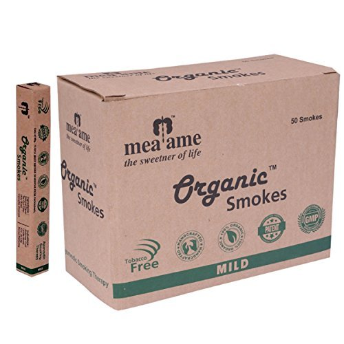 Organic Smokes - Luxury Herbal Cigarettes in Mild Flavor. 50's Economy box. Filter fitted. 100% Herbal, GMP Certified. Quit Smoking Aid. Hand crafted. Excellent Alternative to Ecstasy and Honeyrose