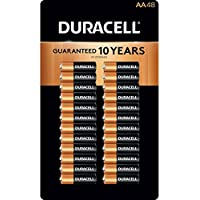 48 Pack Duracell Coppertop Alkaline AA Batteries