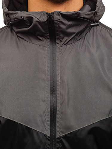 Cierre Grafito Entretiempo De BOLF Capucha 4D4 con de gris Diseño Chaqueta Negro Camuflaje hs10 Cremallera Hombre tAq06AY