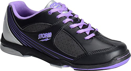 Storm Windy Black/Violet/Silver Women's Bowling Shoes, Size 8 by Storm (Image #1)