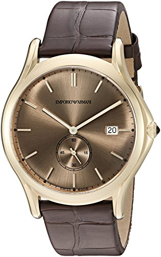 Emporio-Armani-Swiss-Made-Mens-ARS1004-Analog-Display-Swiss-Quartz-Brown-Watch