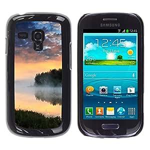 "For Samsung Galaxy S3 MINI ( NOT for regular S3 , S-type Naturaleza Lago Niebla"" - Arte & diseño plástico duro Fundas Cover Cubre Hard Case Cover"