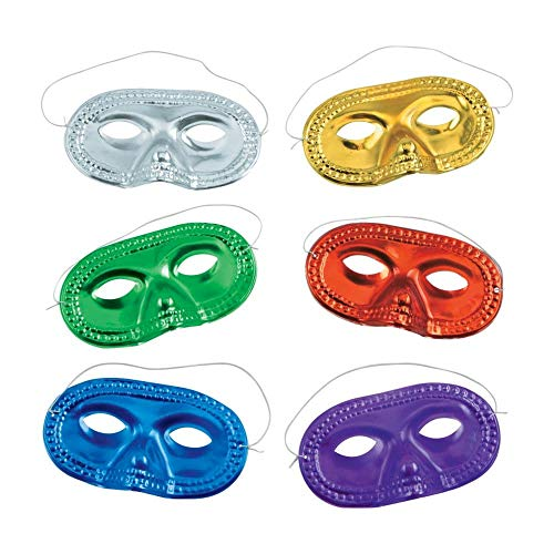 Fun Express Metallic Half-Masks (2 -