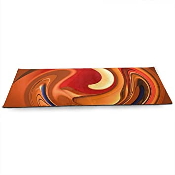 Amazon.com: Unisex Fitness Yoga Mat Spiral Orange Red Flame ...