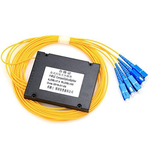 Fiber Bandwidth Optic (1x4 PLC Optical Splitter Cassette, Planar Waveguide Optical Splitter, 1 Sub-4 Fiber Optic Splitter)