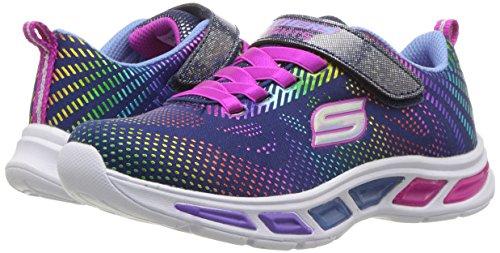 Skechers Kids Girls' Litebeams-Gleam N'DREAM Sneaker, Navy/Multi, 2.5 Medium US Little by Skechers (Image #5)