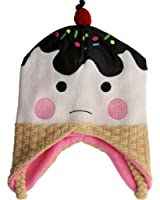 Bioworld Ice Cream Cone Knit Laplander Hat