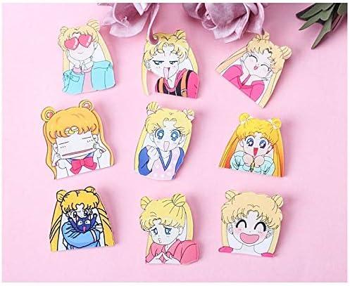 Kerrs Choice Brooch Sailor Moon Pins Black Cat Luna Accessories Sailor Moon Backpack Pins Office Decoration Room Decor