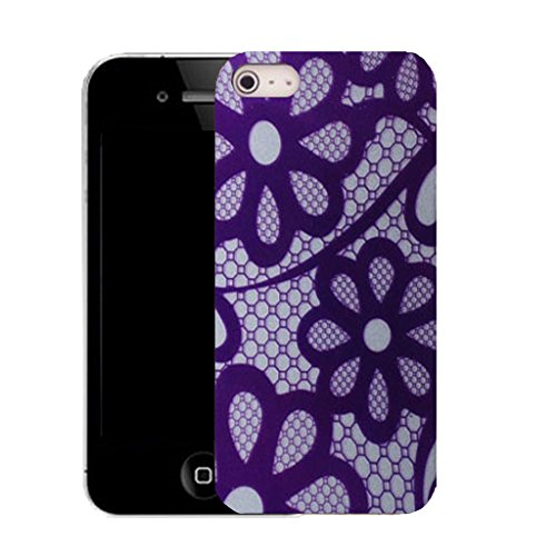 Mobile Case Mate IPhone 4 clip on Silicone Coque couverture case cover Pare-chocs + STYLET - gentle daisy pattern (SILICON)