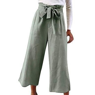 Pantalones Anchos Palazzo para Mujer Falda De Pantalón Pantalones ...