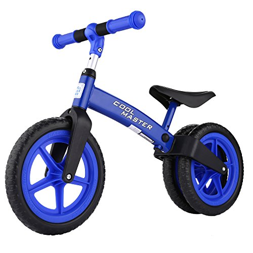 Hindom New Baby Balance Bikes Bicycle Children Walker No Foot Pedal Toddler Bike(US STOCK) (Blue)