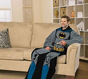 DC Comic Batman Comfy Throw - Superhero Fleece Blanket Sleeves